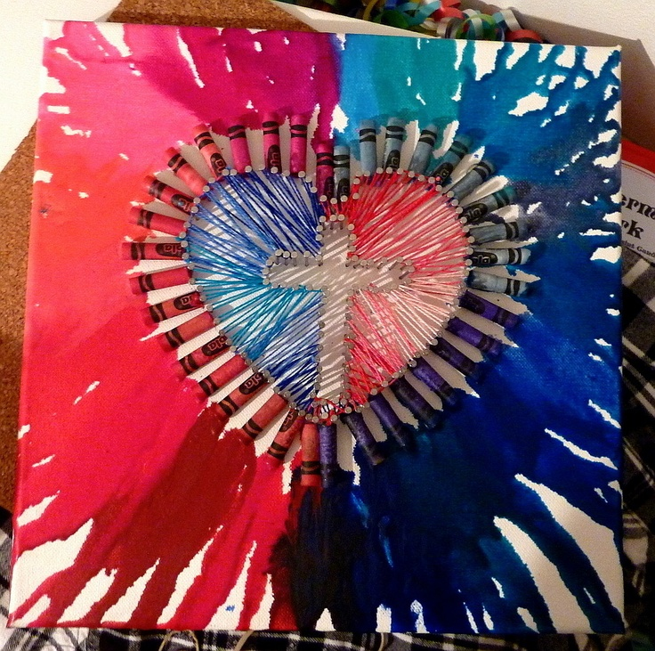 I actually made a pinterest craft! I actually combined 2 pinterest ideas ;P