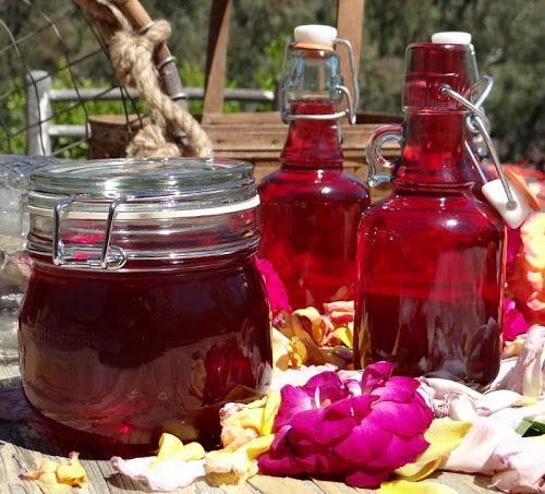 Rose Syrup | 飲み物 Beverages | Pinterest