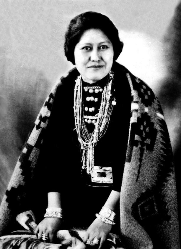A Navajo woman. Photo c. 1940.