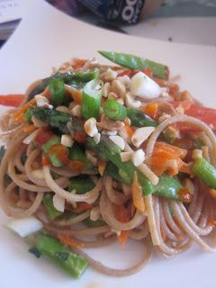 ... Inspired Peanut Noodle Salad with Hoisin Lime Marinated Pork Chops