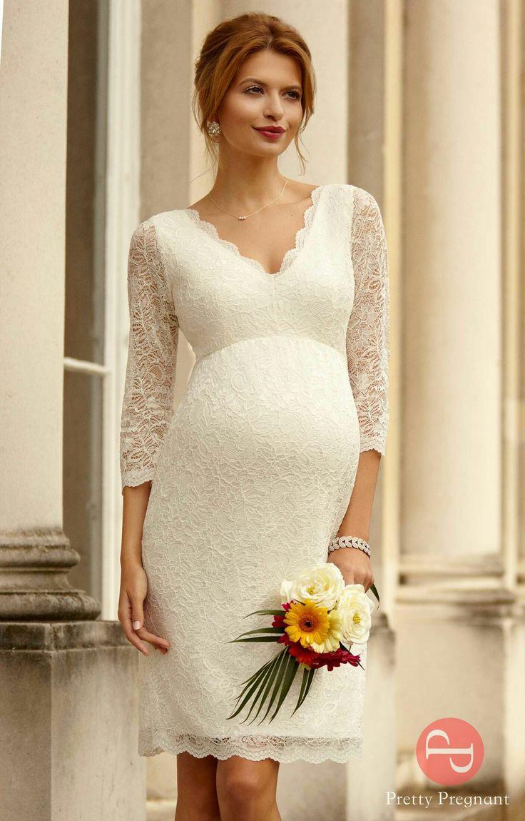 Свадебные платья для беременных короткое