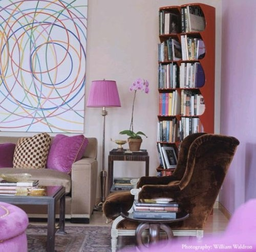 Pink and brown living room design contemporary pinterest