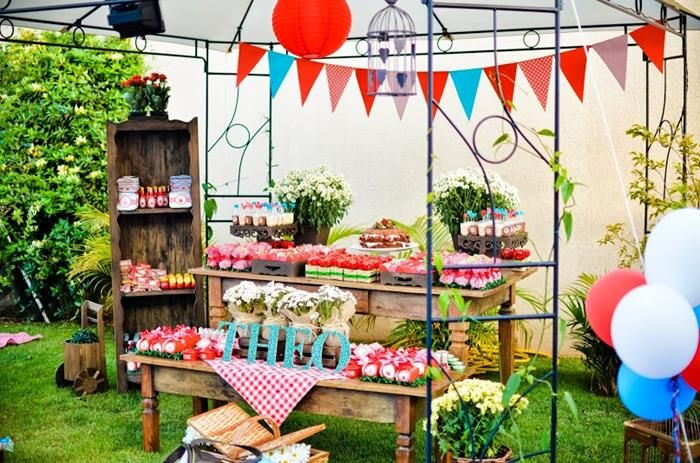 Cute Backyard Party Ideas : Garden Picnic Party with Lots of Really Cute Ideas via Karas Party