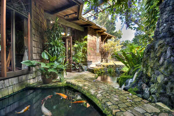 amazing koi pond walkway covetous dwellings pinterest
