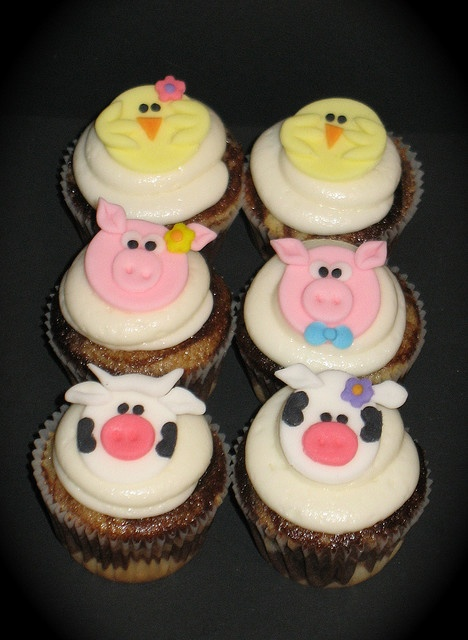 Farm animal cupcakes kandace phillips look at these d