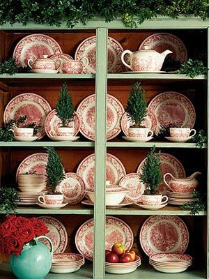 Christmasy Transferware