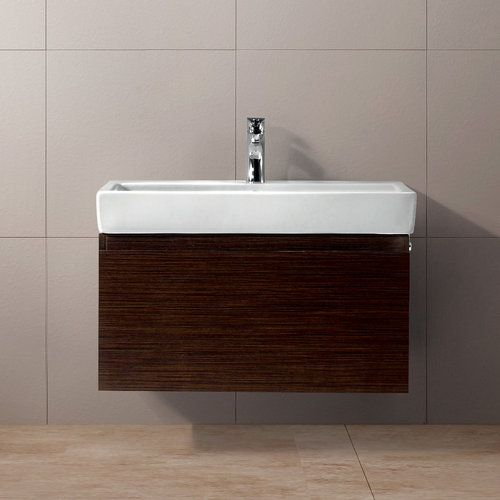 Wall Mounted Trough Sink : Vigo wall mounted trough sink vanity with drawer
