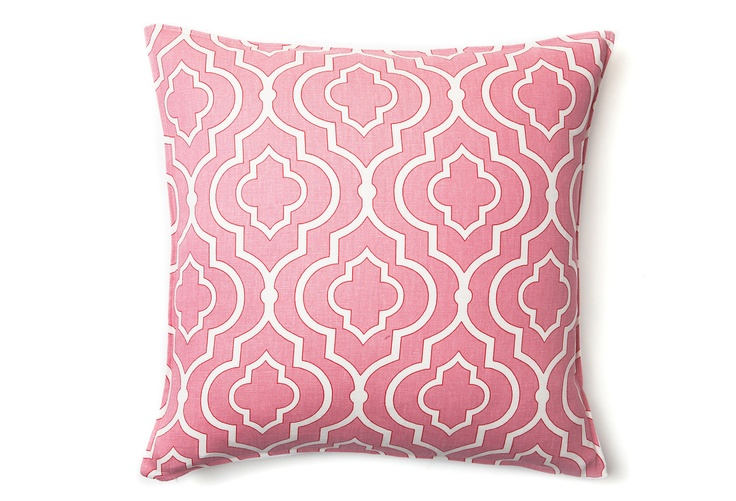 Modern Moroccan Pillows : Modern Moroccan 16x16 Pillow, Pink