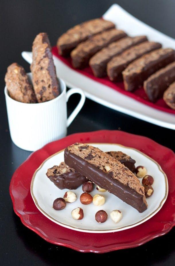 Chocolate Hazelnut Biscotti   Coffee Shop   Pinterest