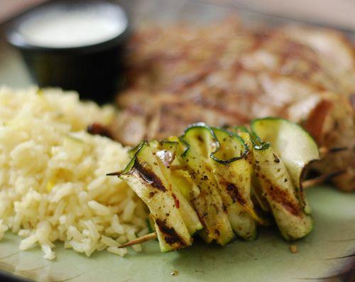 Lemon Rice Pilaf and Grilled SquashLemon Rice Pilaf