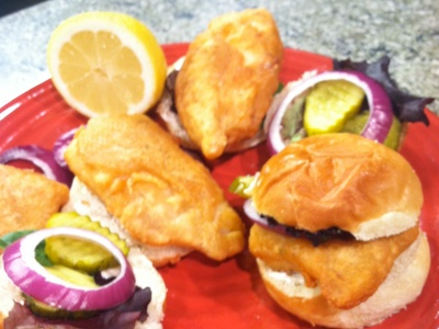 BEER BATTERED FISH SANDWICHES | A Taste of the Tropics | Pinterest