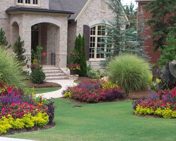 Pin by naz saiyed on garden idea and flowers pinterest for Flower bed designs for front of house