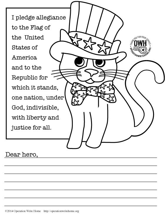 military thank you coloring pages - photo#9