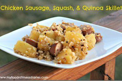 Chicken Sausage, Squash, Quinoa Skillet | Food | Pinterest
