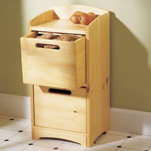 Organizer Storage Vegetable Bin Woodworking Plan | Woodworking