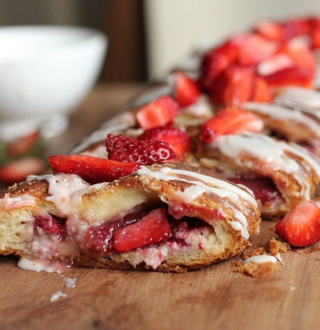 Strawberry Lime Almond Danish Braid | ⊱mmm...Nom noms ...