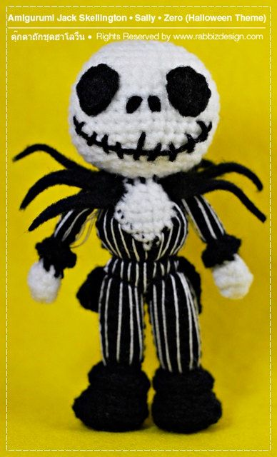 PDF Pattern - Amigurumi Halloween Set - Jack Skellington ...