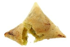 "Serve a ""different' party food - curry phyllo samosas!"