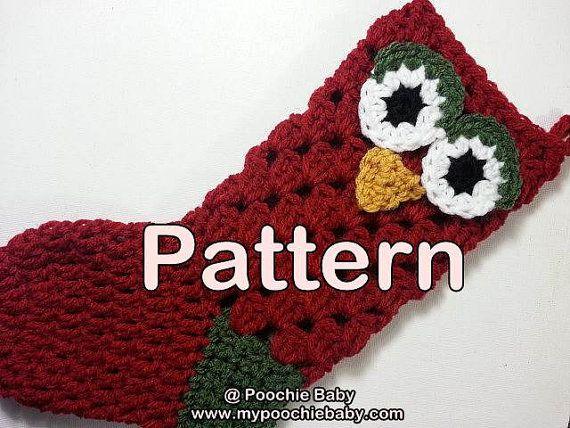 Crochet Pattern Template : Crochet Christmas Stocking Pattern New Calendar Template Site