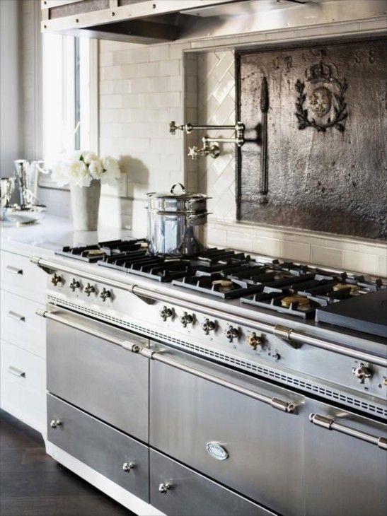 La cornue range and pot filler cuisine pinterest - Piano de cuisine la cornue ...