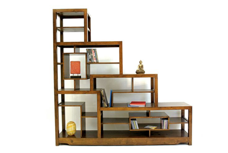 Pin by virginie mespoulet on escaliers pinterest - Etagere bibliotheque bois ...