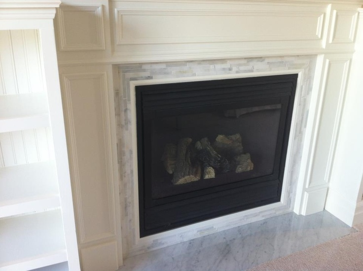 Marble Tile Fireplace Surround Hearth Fireplace Pinterest