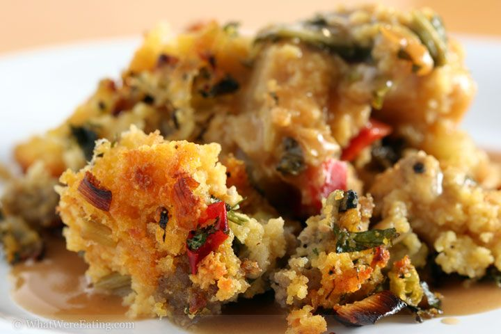 and cornbread stuffing great way to use up day old homemade cornbread ...