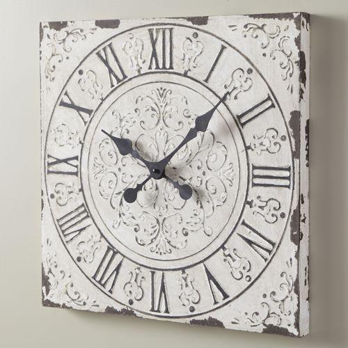 large shabby chic clock clocks buttons etc