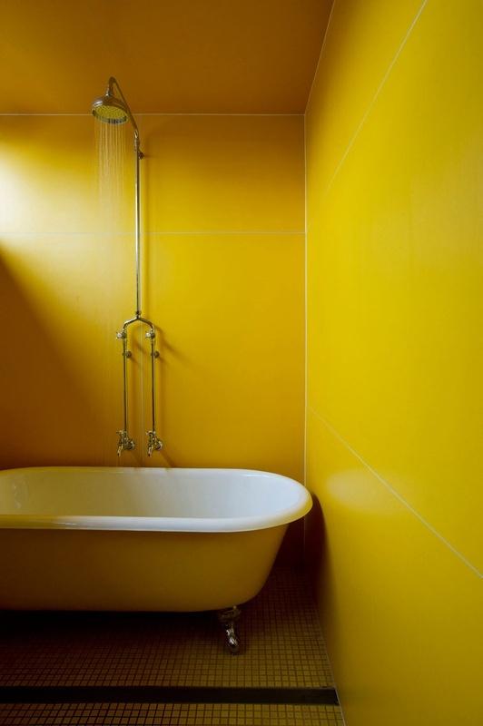 Yellow bathroom decor yellow bath pinterest for Yellow bathroom decor