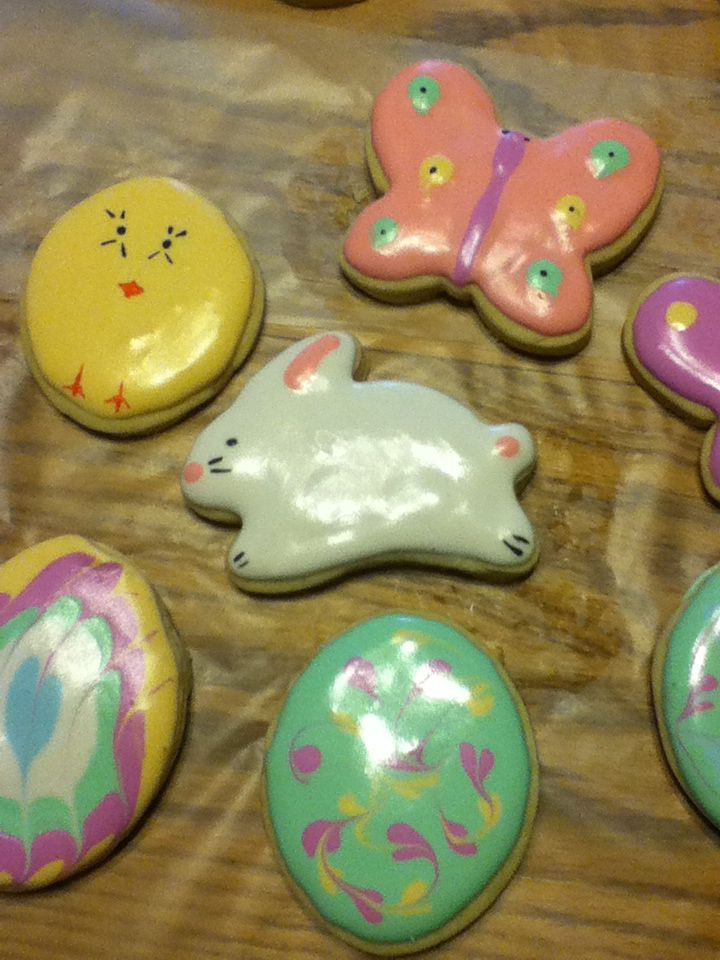 Easter sugar cookies with royal icing   My Sweet Creations   Pinterest