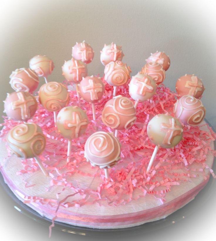 Cake Pops Ideas For Baptism : Baptism cake pops! Cakepops/ Cakeballs!! Pinterest