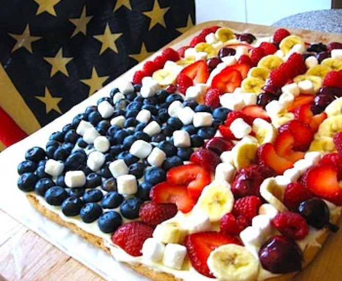 4th july cookie pizza