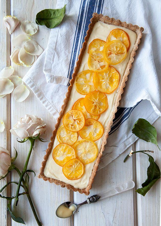 Meyer Lemon Cream White Chocolate Tart | Healthy food that LOOKS deli ...