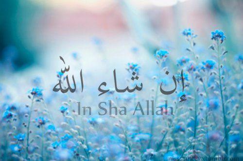 Inshaallah gt god willing