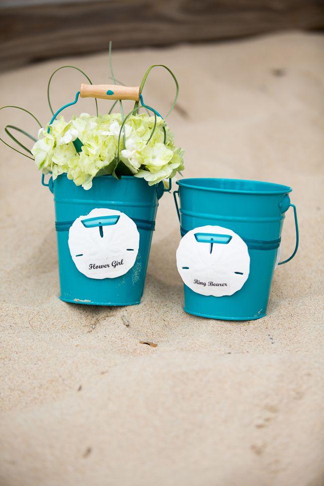 Cute flower girl & ring bearer buckets