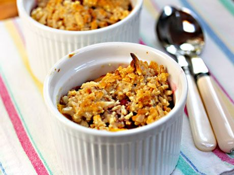 Recipe for gluten-free mango and raspberry crisp with almond topping ...