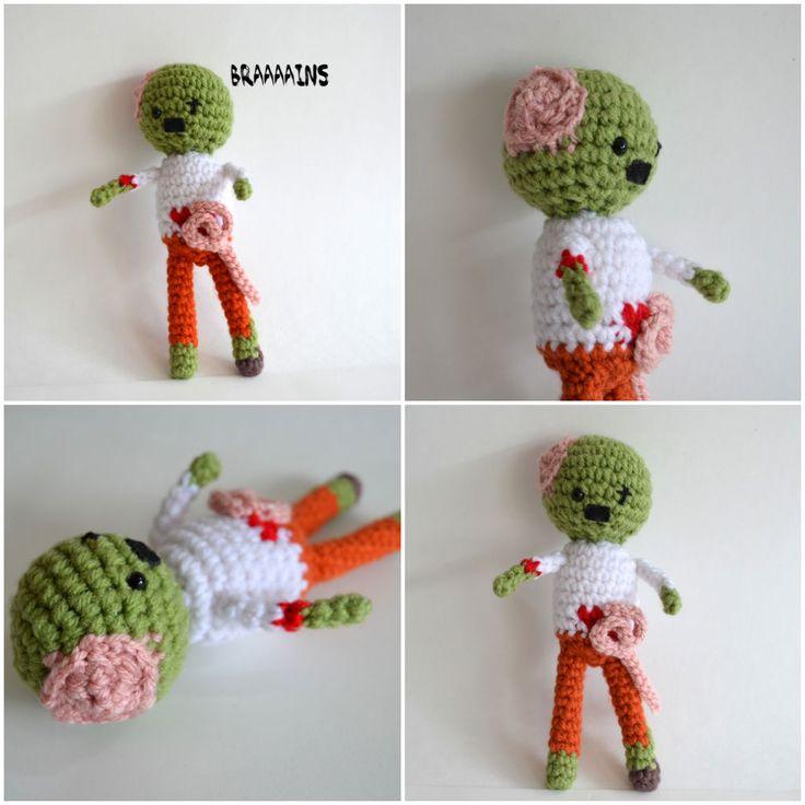 Crochet Zombie Patterns : Zombie crocheted pattern #Crocheted, #DIY, #Pattern, #Zombie