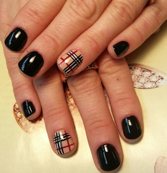 Black amp; nude nail art.  Nails for Chrissy to do  Pinterest