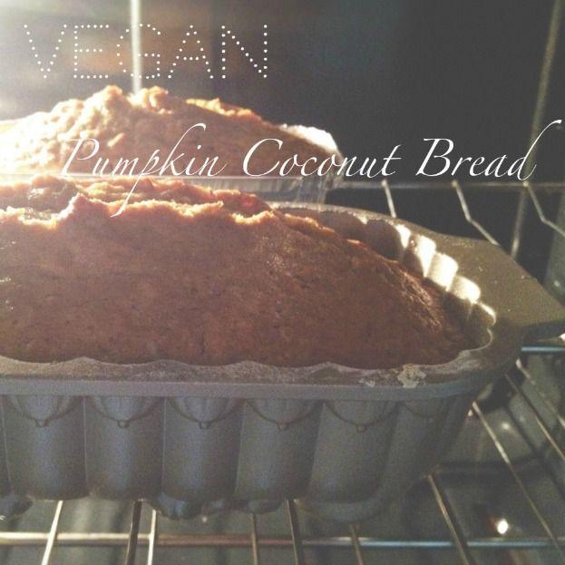 Vegan Pumpkin Coconut Bread