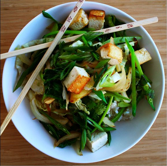 Stir-Fried Veggies and Tofu - eat it with soba noodles or quinoa ...