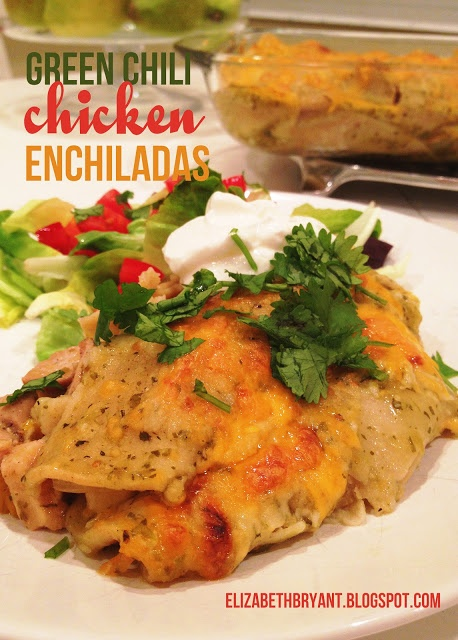 green chili chicken enchiladas | Eats | Pinterest