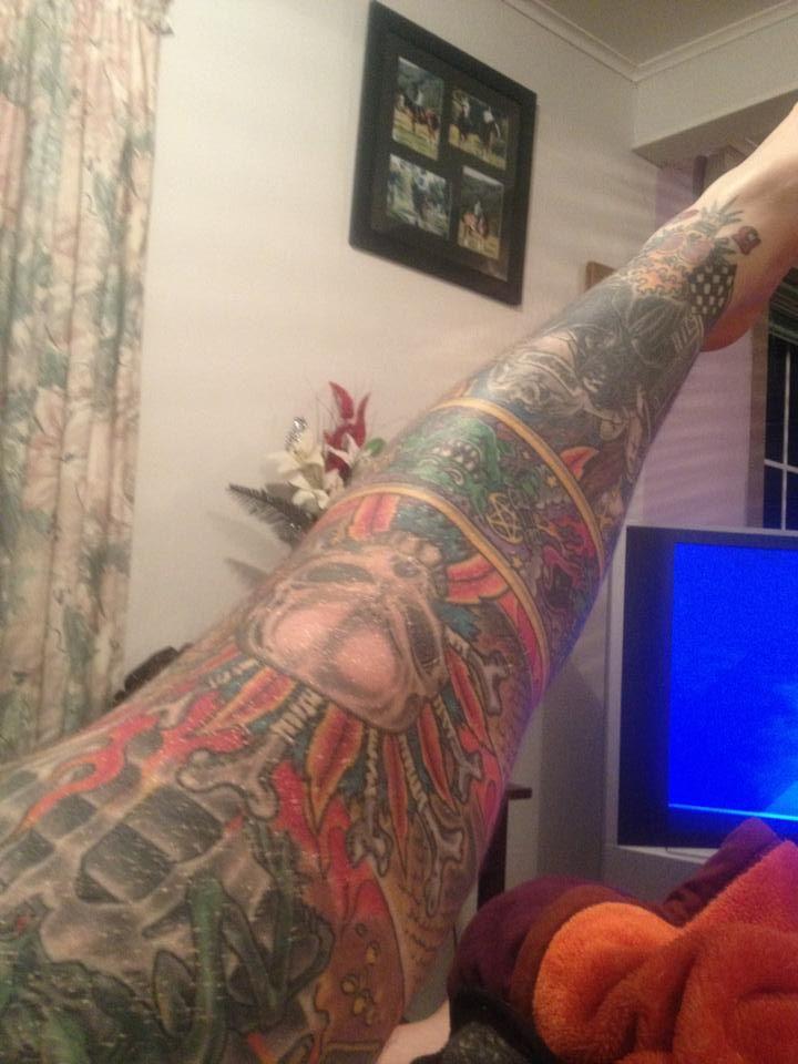 Hawera New Zealand  city pictures gallery : Jason Hardwick, Hawera, New Zealand tattoo.
