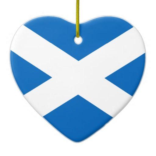 Scotland Flag Christmas Tree Ornaments