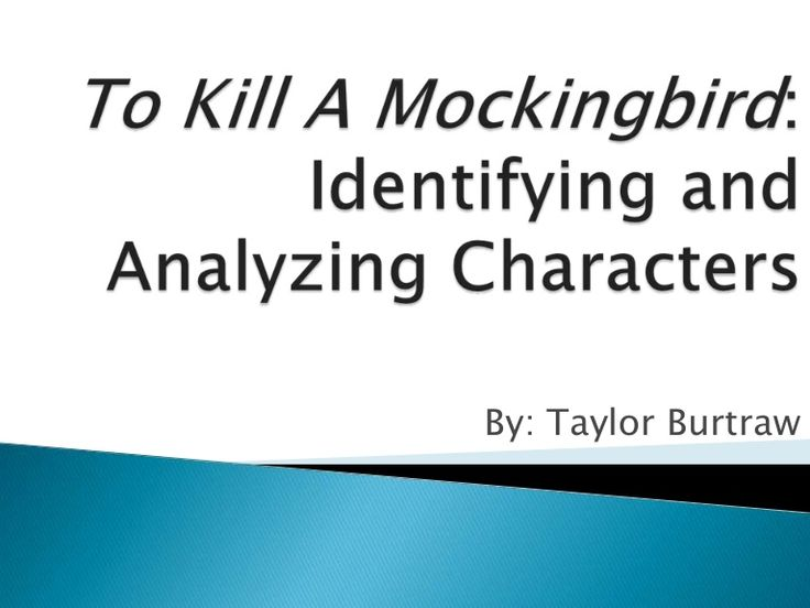 To Kill a Mockingbird - Paper Masters