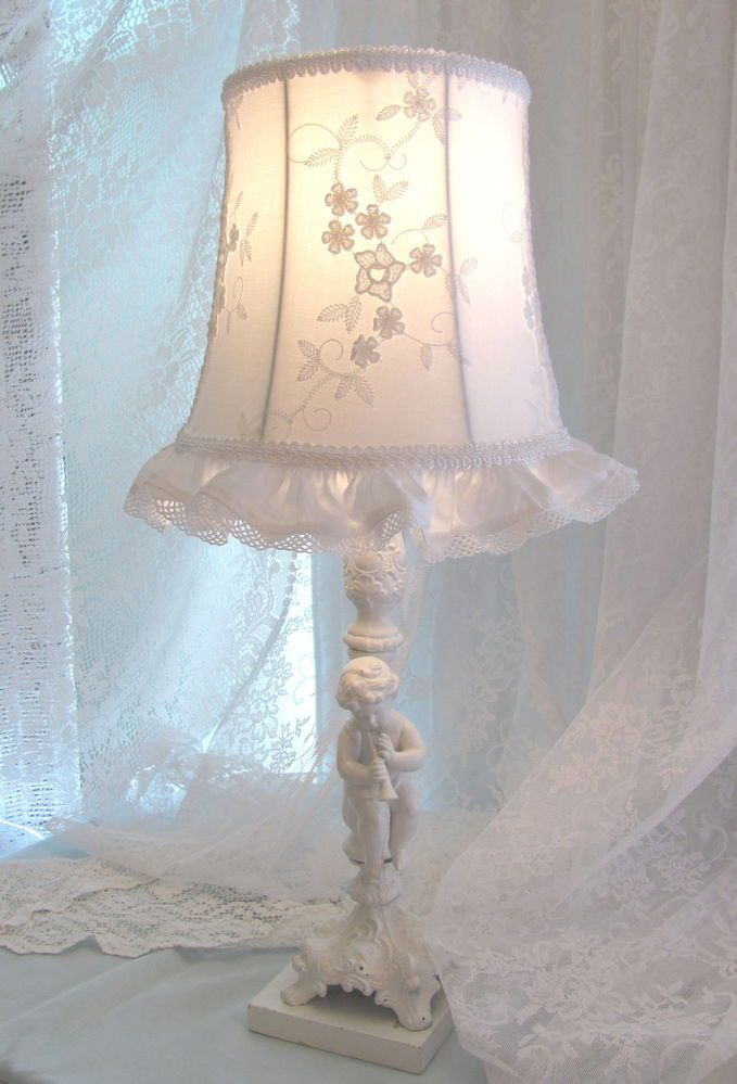 Pin by marilyn ledford on lamps and shades pinterest - Lamparas estilo shabby chic ...