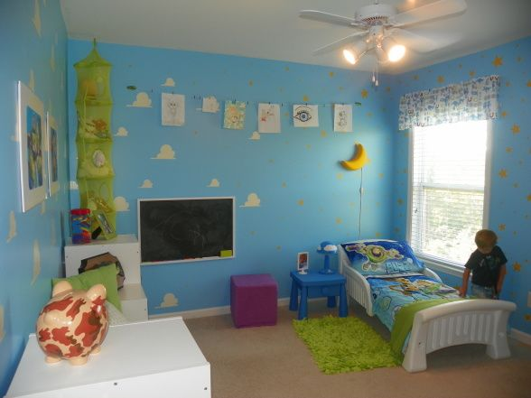 toy story room paint clouds on wall diy projects i