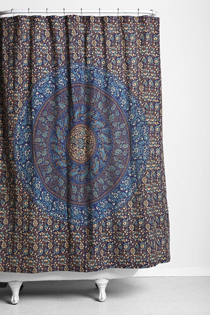 Magical Thinking Jade Medallion Shower Curtain