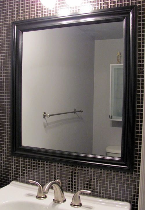 Frame mirror with molding