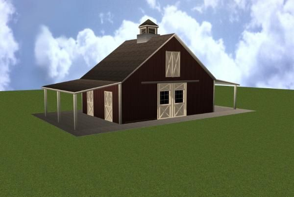 3 Stall Horse Barn Plan So Cute Loft Stables And