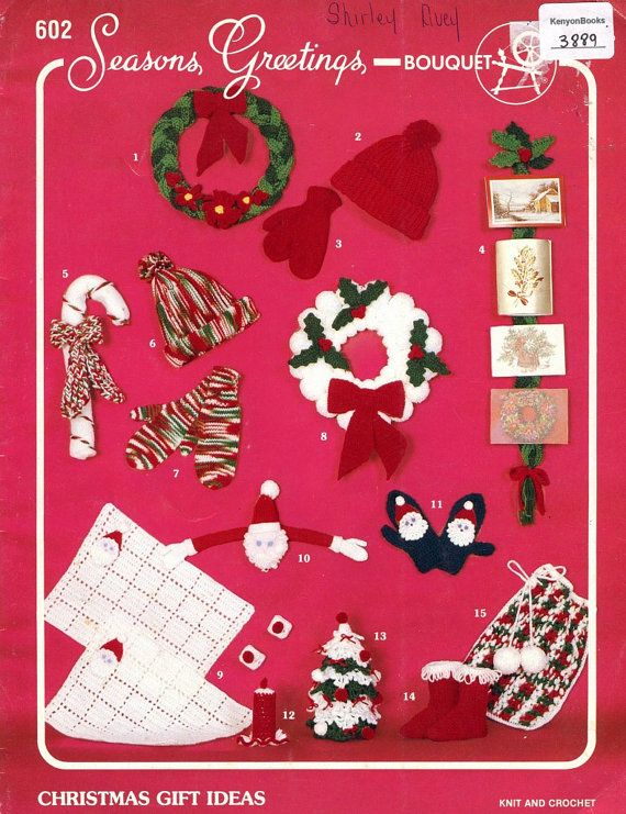 KNITTING and CROCHET Pattern Book - CHRISTMAS Gift Ideas - 15 Projects ...